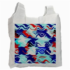 Wavy Chaos Recycle Bag (one Side) by LalyLauraFLM