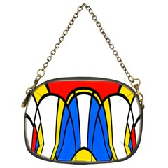 Colorful Distorted Shapes Chain Purse (two Sides) by LalyLauraFLM