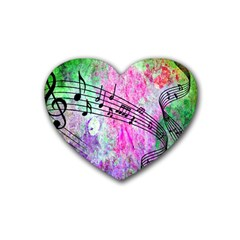 Abstract Music  Heart Coaster (4 Pack)