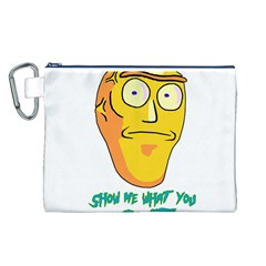 Show Me What You Got New Fresh Canvas Cosmetic Bag (l) by kramcox