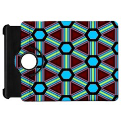 Stripes And Hexagon Pattern Kindle Fire Hd Flip 360 Case by LalyLauraFLM