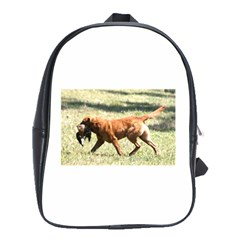 Chesapeake Bay Retriever Retrieving School Bags(large)  by TailWags