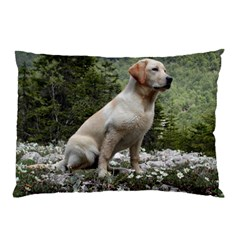 Yellow Lab Sitting Pillow Cases (Two Sides)