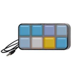 Shiny Squares Pattern Portable Speaker