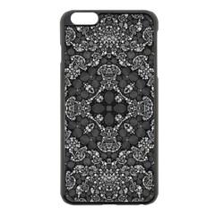 Crazy Beautiful Abstract  Apple Iphone 6 Plus Black Enamel Case
