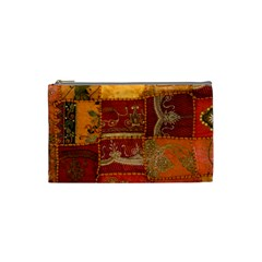 India Print Realism Fabric Art Cosmetic Bag (Small)  by TheWowFactor