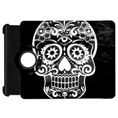 Skull Kindle Fire Hd Flip 360 Case by ImpressiveMoments