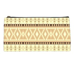 Fancy Tribal Border Pattern Beige Pencil Cases by ImpressiveMoments