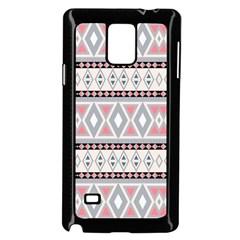 Fancy Tribal Border Pattern Soft Samsung Galaxy Note 4 Case (black)