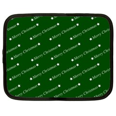 Merry Christmas,text,green Netbook Case (xl)  by ImpressiveMoments