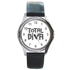 Total Diva  Round Metal Watches by OCDesignss