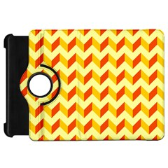 Modern Retro Chevron Patchwork Pattern  Kindle Fire Hd Flip 360 Case by creativemom
