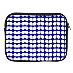 Blue And White Leaf Pattern Apple Ipad 2/3/4 Zipper Cases by creativemom
