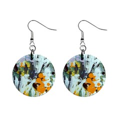 Abstract Country Garden Mini Button Earrings by theunrulyartist