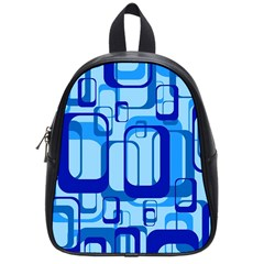 Retro Pattern 1971 Blue School Bags (small)  by ImpressiveMoments