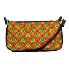 70s Green Orange Pattern Shoulder Clutch Bags by ImpressiveMoments