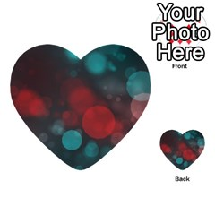 Modern Bokeh 15b Multi Purpose Cards (heart)  by ImpressiveMoments