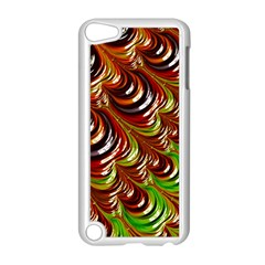 Special Fractal 31 Green,brown Apple Ipod Touch 5 Case (white)