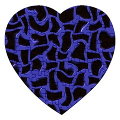 Purple Holes Jigsaw Puzzle (heart) by LalyLauraFLM