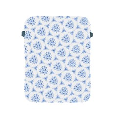 Sweet Doodle Pattern Blue Apple Ipad 2/3/4 Protective Soft Cases by ImpressiveMoments