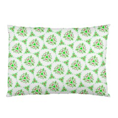 Sweet Doodle Pattern Green Pillow Cases (two Sides)