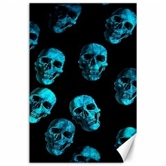 Skulls Blue Canvas 24  X 36  by ImpressiveMoments