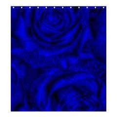 Gorgeous Roses,deep Blue Shower Curtain 66  X 72  (large)