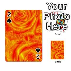 Gorgeous Roses, Orange Playing Cards 54 Designs
