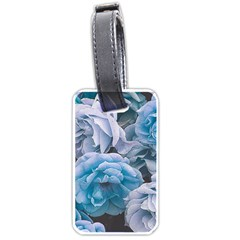 Great Garden Roses Blue Luggage Tags (two Sides) by MoreColorsinLife