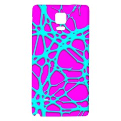 Hot Web Turqoise Pink Galaxy Note 4 Back Case by ImpressiveMoments