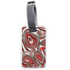 Metal Art 9 Red Luggage Tags (one Side)  by MoreColorsinLife