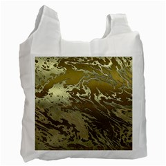Metal Art Swirl Golden Recycle Bag (one Side) by MoreColorsinLife