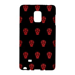 Skull Pattern Red Galaxy Note Edge by MoreColorsinLife