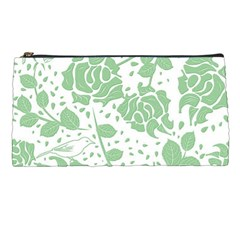 Floral Wallpaper Green Pencil Cases by ImpressiveMoments