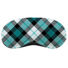 Smart Plaid Teal Sleeping Masks by ImpressiveMoments