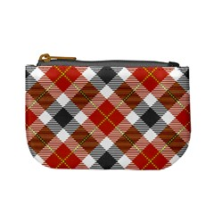 Smart Plaid Warm Colors Mini Coin Purses by ImpressiveMoments