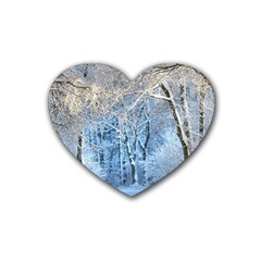 Another Winter Wonderland 1 Heart Coaster (4 Pack)  by MoreColorsinLife