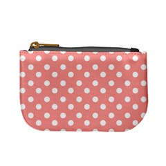 Coral And White Polka Dots Mini Coin Purses by creativemom