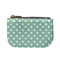 Light Blue And White Polka Dots Mini Coin Purses by creativemom