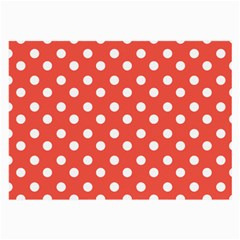Indian Red Polka Dots Large Glasses Cloth by creativemom