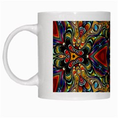 Magnificent Kaleido Design White Mugs by MoreColorsinLife