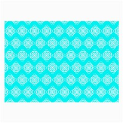 Abstract Knot Geometric Tile Pattern Large Glasses Cloth by creativemom