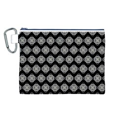 Abstract Knot Geometric Tile Pattern Canvas Cosmetic Bag (l) by creativemom