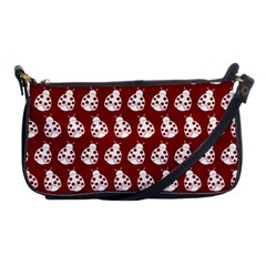 Ladybug Vector Geometric Tile Pattern Shoulder Clutch Bags by creativemom