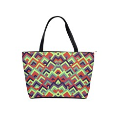 Trendy Chic Modern Chevron Pattern Shoulder Handbags by creativemom