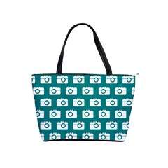 Modern Chic Vector Camera Illustration Pattern Shoulder Handbags by creativemom