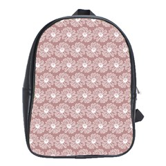 Gerbera Daisy Vector Tile Pattern School Bags (xl)  by creativemom