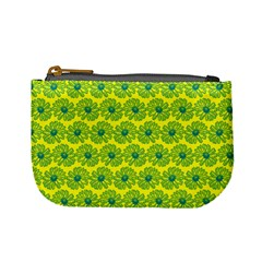 Gerbera Daisy Vector Tile Pattern Mini Coin Purses by creativemom