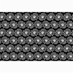 Black And White Gerbera Daisy Vector Tile Pattern Collage 12  x 18  by creativemom