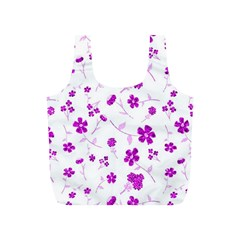 Sweet Shiny Floral Pink Full Print Recycle Bags (s)  by ImpressiveMoments